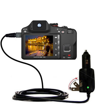 Car & Home 2 in 1 Charger compatible with the Kodak EasyShare Max