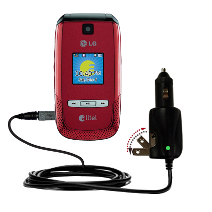 Car & Home 2 in 1 Charger compatible with the LG AX500
