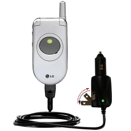 Car & Home 2 in 1 Charger compatible with the LG C1300