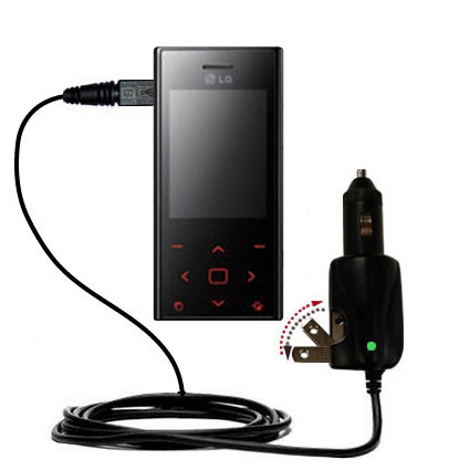 Car & Home 2 in 1 Charger compatible with the LG Chocolate BL42