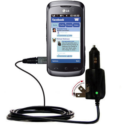 Car & Home 2 in 1 Charger compatible with the LG Cookie Music