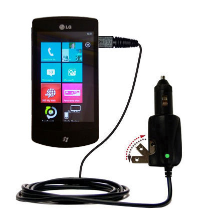 Car & Home 2 in 1 Charger compatible with the LG E900h