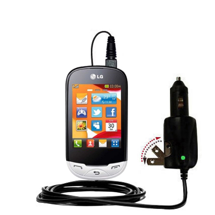 Car & Home 2 in 1 Charger compatible with the LG EGO Wi-Fi