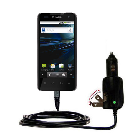 Car & Home 2 in 1 Charger compatible with the LG G2x