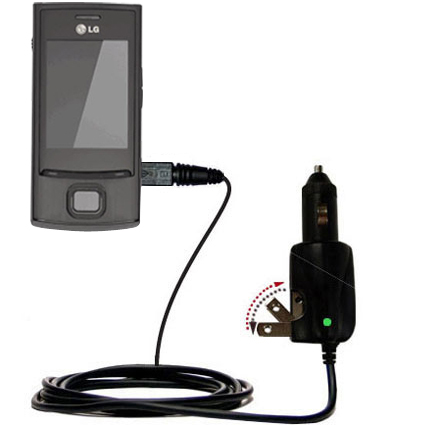 Car & Home 2 in 1 Charger compatible with the LG GD550