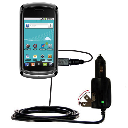 Car & Home 2 in 1 Charger compatible with the LG Genesis