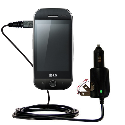 Car & Home 2 in 1 Charger compatible with the LG GW620