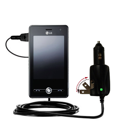 Car & Home 2 in 1 Charger compatible with the LG KS20