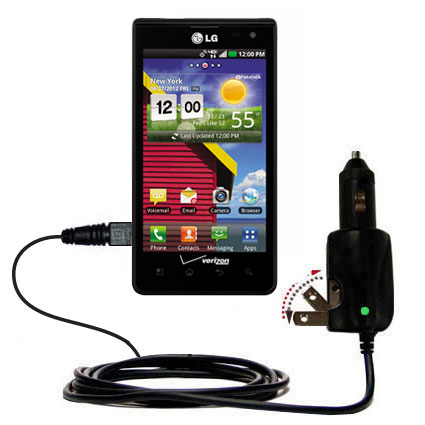 Car & Home 2 in 1 Charger compatible with the LG Lucid 1 / 2 / 3