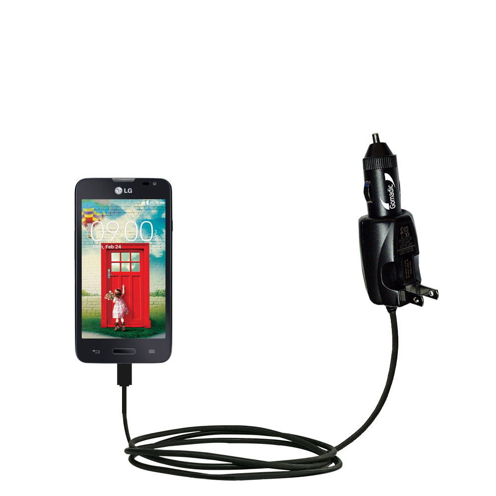 Car & Home 2 in 1 Charger compatible with the LG Optimus L70