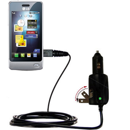 Car & Home 2 in 1 Charger compatible with the LG Pop GD510
