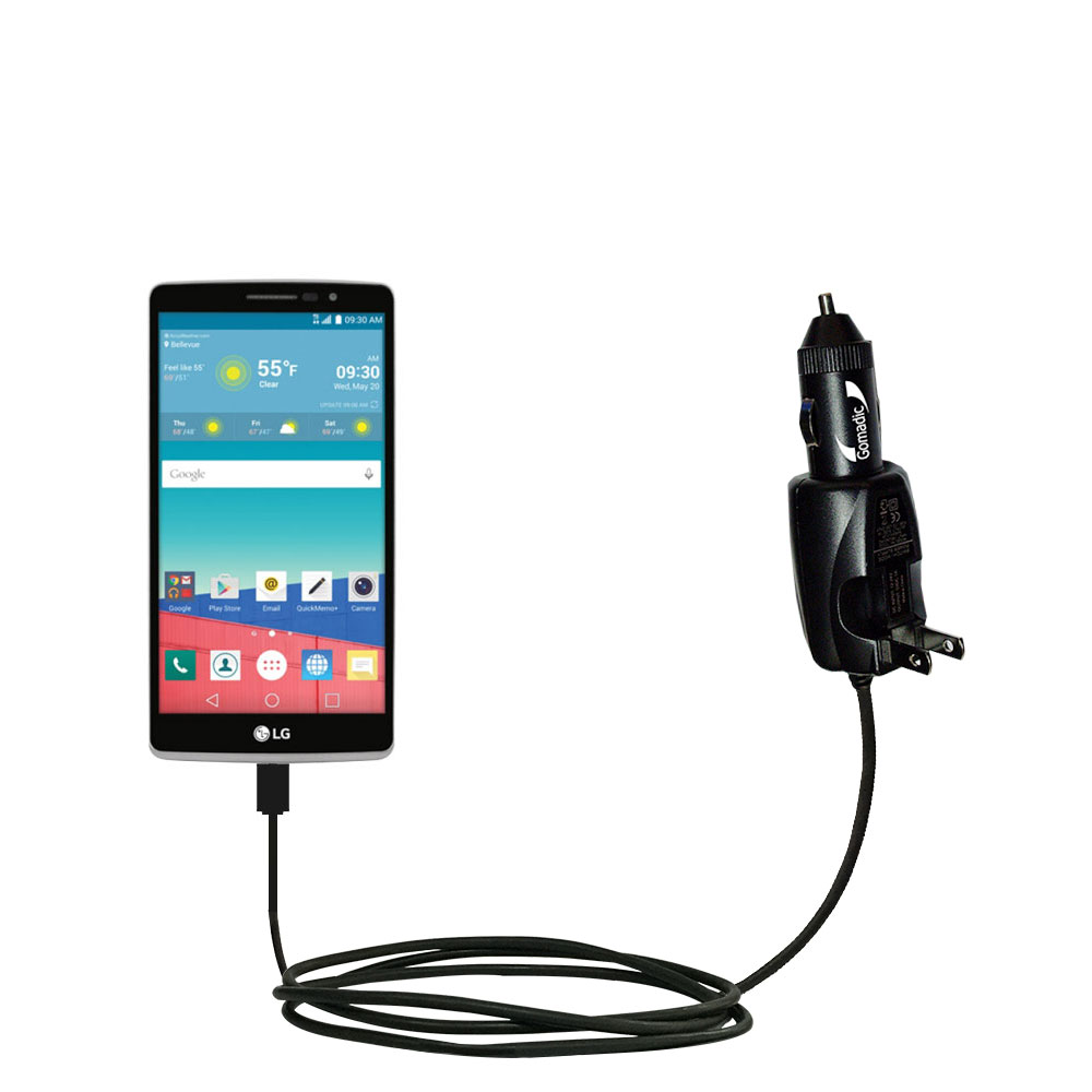 Car & Home 2 in 1 Charger compatible with the LG Stylo 3