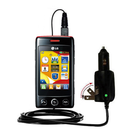 Car & Home 2 in 1 Charger compatible with the LG T300