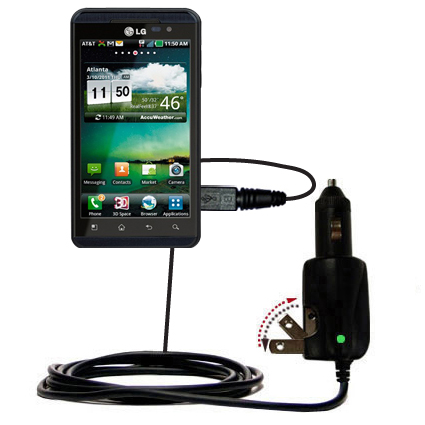 Car & Home 2 in 1 Charger compatible with the LG Thrill 4G
