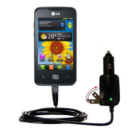 Car & Home 2 in 1 Charger compatible with the LG Univa