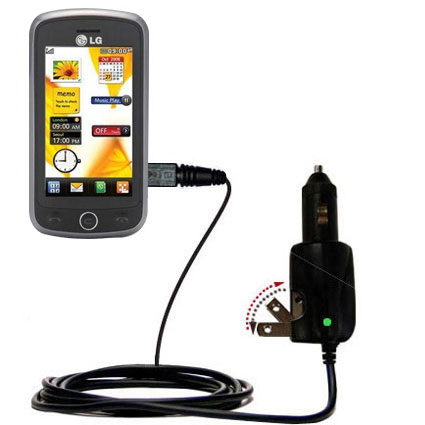 Car & Home 2 in 1 Charger compatible with the LG VN530
