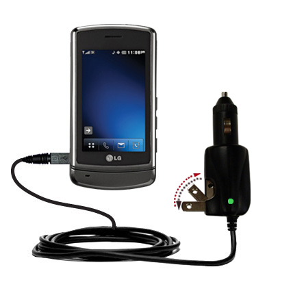 Car & Home 2 in 1 Charger compatible with the LG VX9700