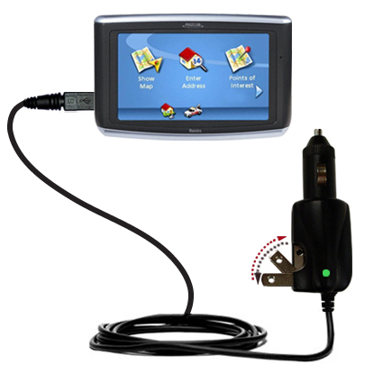 Car & Home 2 in 1 Charger compatible with the Magellan Maestro 3200