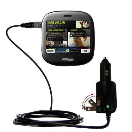 Car & Home 2 in 1 Charger compatible with the Microsoft  KIN ONE / KIN 1