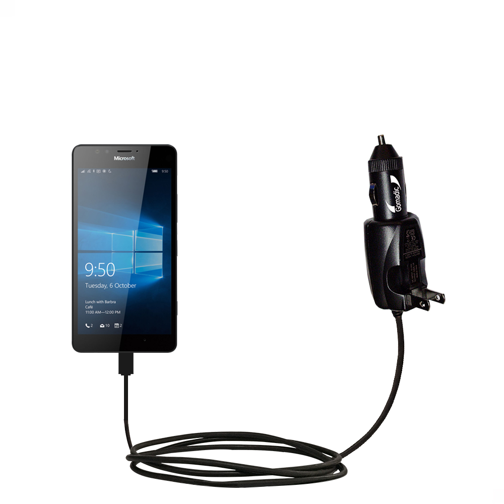 Car & Home 2 in 1 Charger compatible with the Microsoft Lumia 950