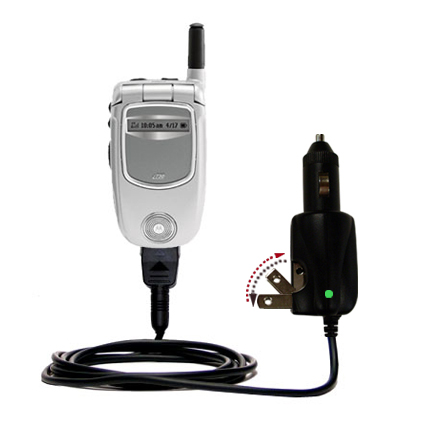 Car & Home 2 in 1 Charger compatible with the Motorola i730