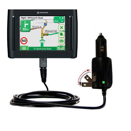 Car & Home 2 in 1 Charger compatible with the Navman F35