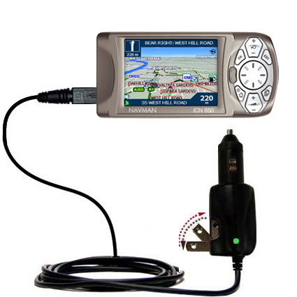 Car & Home 2 in 1 Charger compatible with the Navman iCN 650