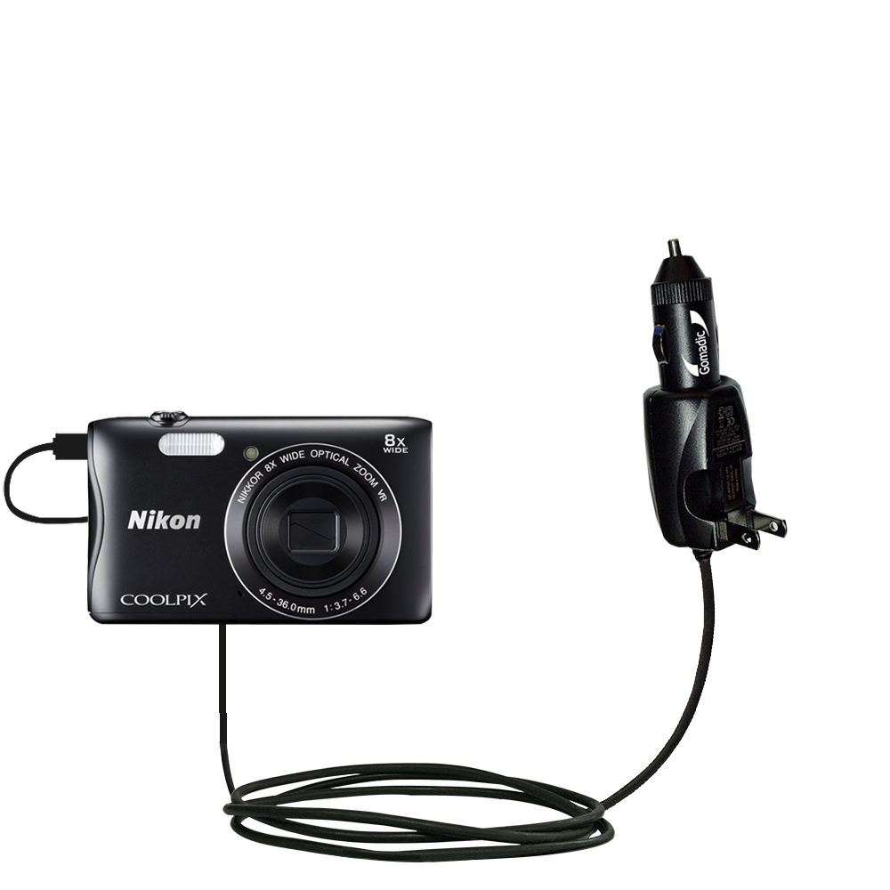 Auto DC Charger suitable for the Sony DSC-WX350 Double Port Micro Gomadic Car Charges up to 2 devices simultaneously with Gomadic TipExchange Technology