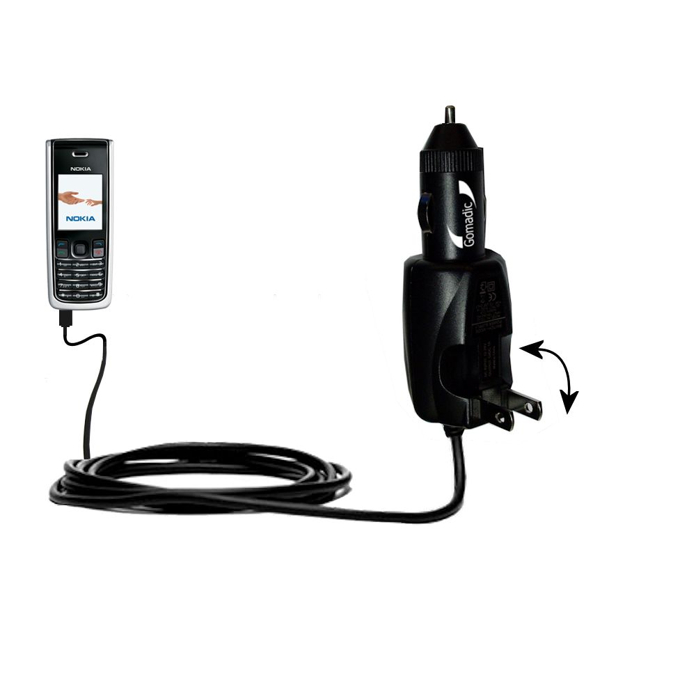Car & Home 2 in 1 Charger compatible with the Nokia 2865i 3155i