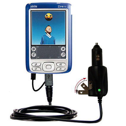 Car & Home 2 in 1 Charger compatible with the Palm palm Zire 72s