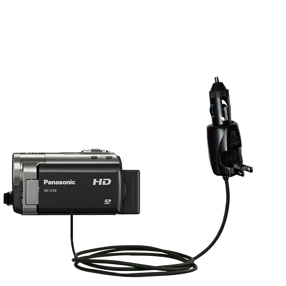 Car & Home 2 in 1 Charger compatible with the Panasonic HC-V10