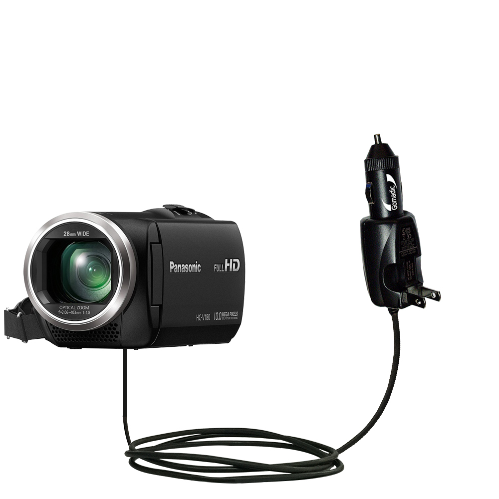 Car & Home 2 in 1 Charger compatible with the Panasonic HC-V180