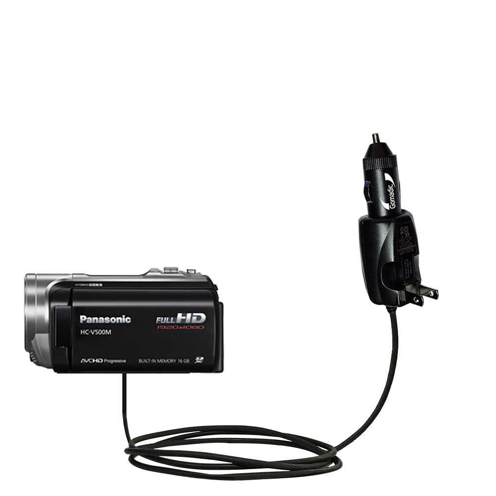 Car & Home 2 in 1 Charger compatible with the Panasonic HC-V500