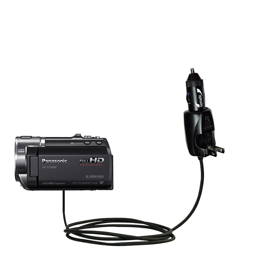 Car & Home 2 in 1 Charger compatible with the Panasonic HC-V700