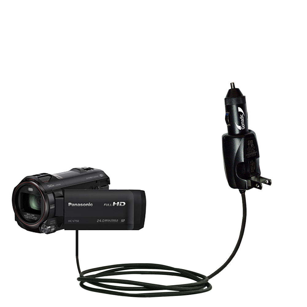 Car & Home 2 in 1 Charger compatible with the Panasonic HC-V750 / V750