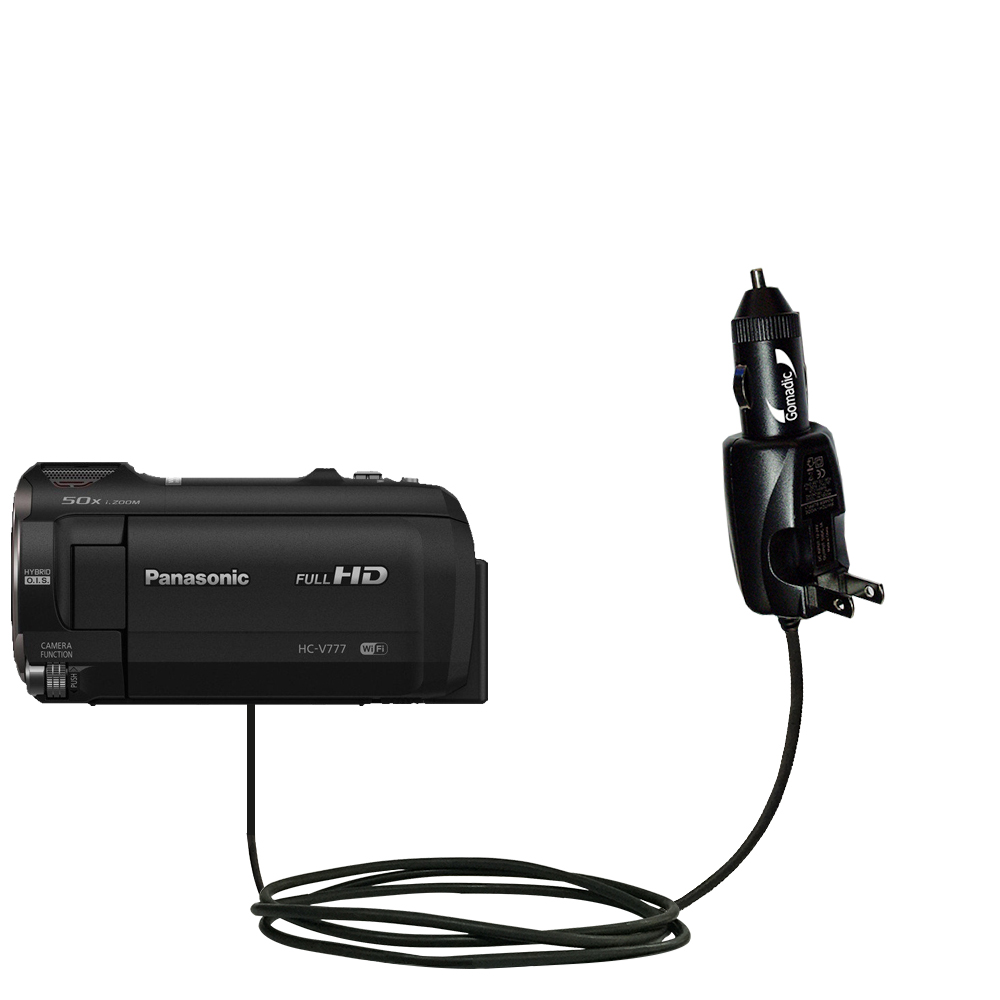 Car & Home 2 in 1 Charger compatible with the Panasonic HC-V770 / HC-V777