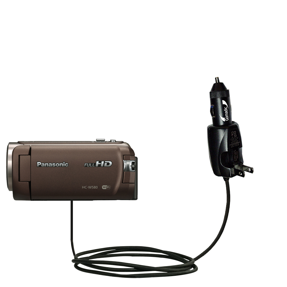 Car & Home 2 in 1 Charger compatible with the Panasonic HC-W580