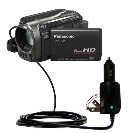 Car & Home 2 in 1 Charger compatible with the Panasonic HDC-HS60 Video Camera