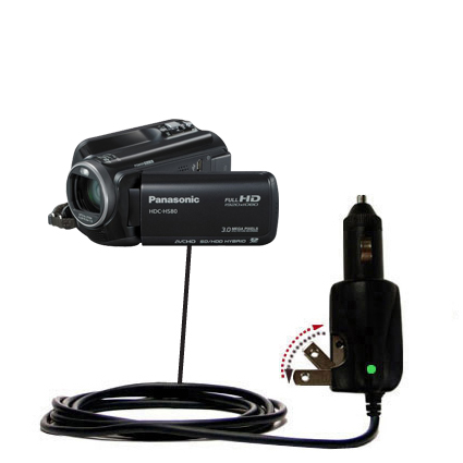 Car & Home 2 in 1 Charger compatible with the Panasonic HDC-HS80 Camcorder