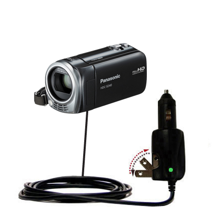 Car & Home 2 in 1 Charger compatible with the Panasonic HDC-SD40 Camcorder