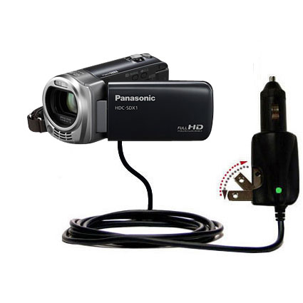 Car & Home 2 in 1 Charger compatible with the Panasonic HDC-SDX1H HD Camcorder