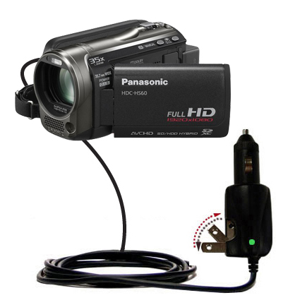 Car & Home 2 in 1 Charger compatible with the Panasonic HDC-TM55 Video Camera