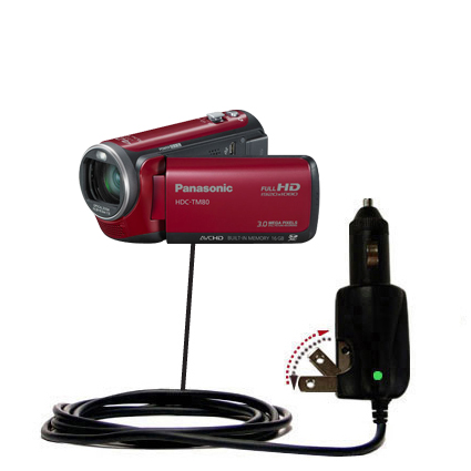 Car & Home 2 in 1 Charger compatible with the Panasonic HDC-TM80 Camcorder