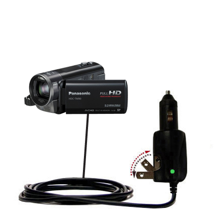 Car & Home 2 in 1 Charger compatible with the Panasonic HDC-TM90 Camcorder