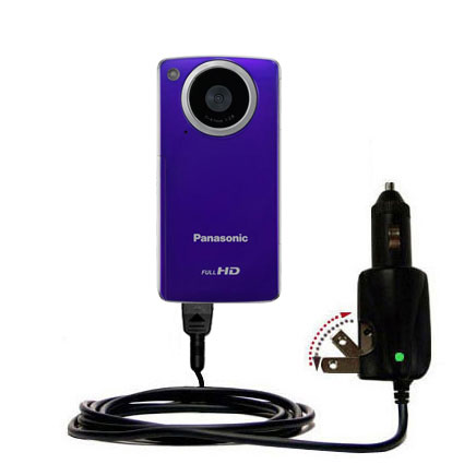 Car & Home 2 in 1 Charger compatible with the Panasonic HM-TA1V Digital HD Camcorder