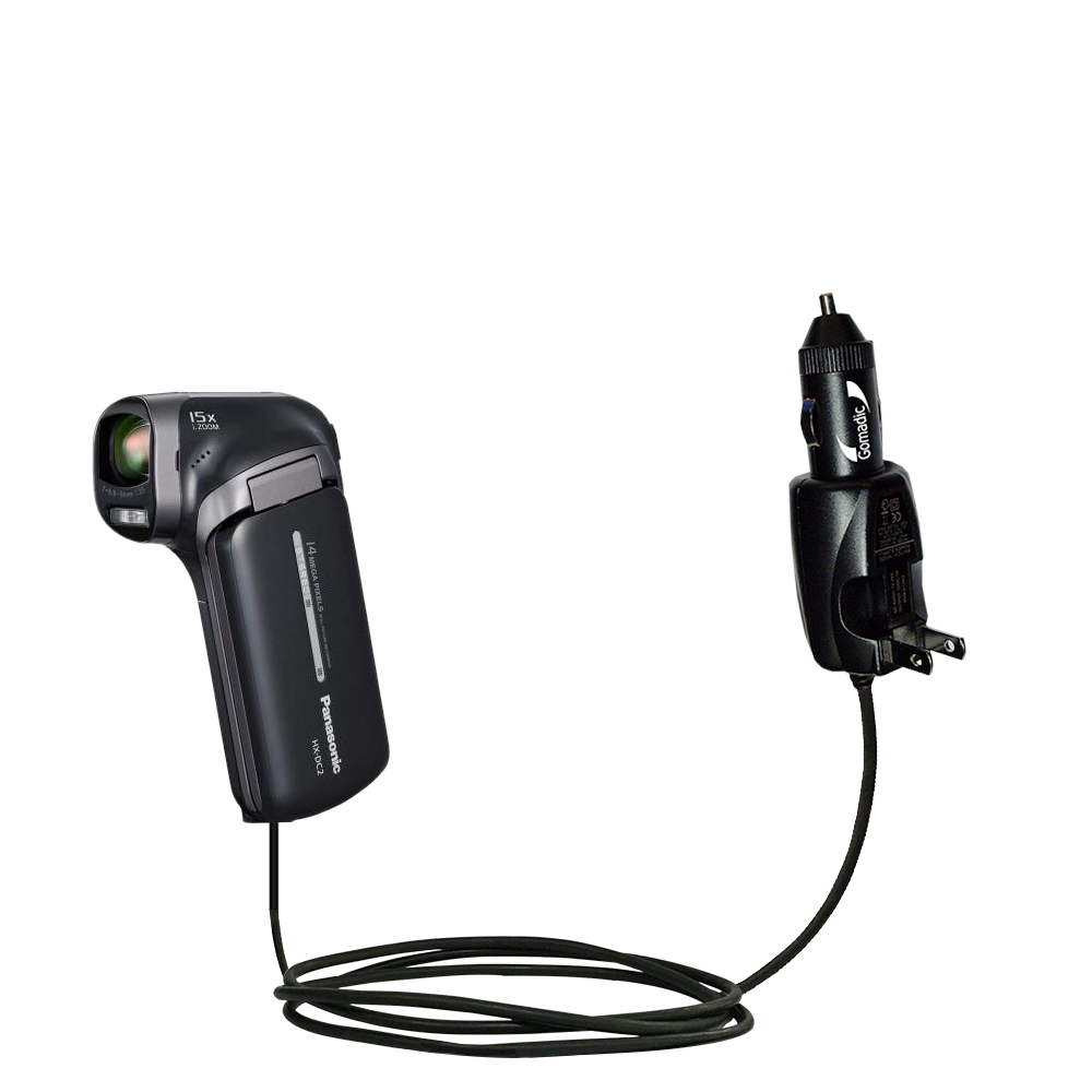 Car & Home 2 in 1 Charger compatible with the Panasonic HX-DC3
