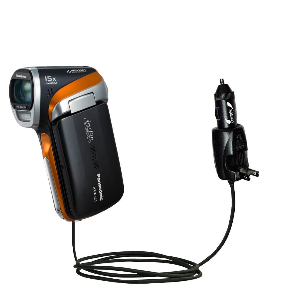 Car & Home 2 in 1 Charger compatible with the Panasonic HX-WA20