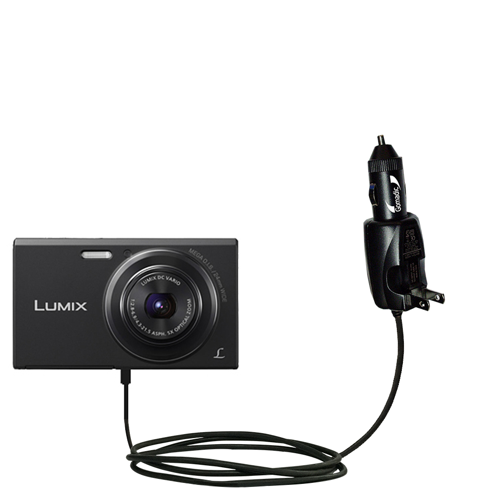 Car & Home 2 in 1 Charger compatible with the Panasonic Lumix DMC-FH10V
