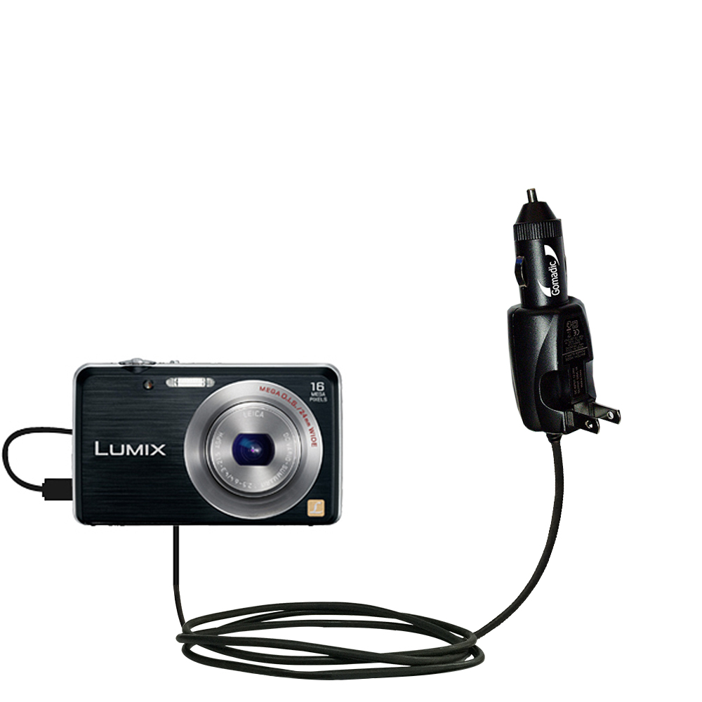 Car & Home 2 in 1 Charger compatible with the Panasonic Lumix DMC-FH8K