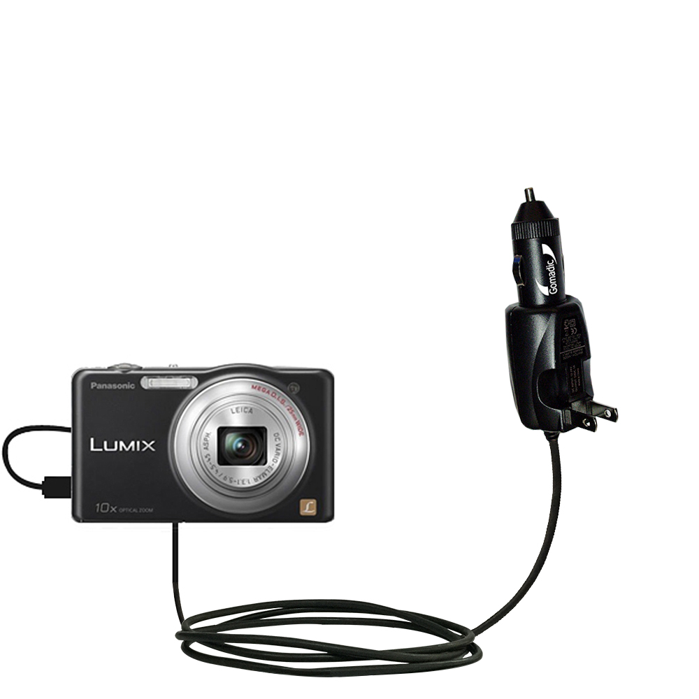 Car & Home 2 in 1 Charger compatible with the Panasonic Lumix DMC-SZ1K